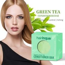 Hairinque cabelo orgânico verde chá condicionador barra artesanal profundo condicionado & óleo-controle suave condicionador de cabelo sabão