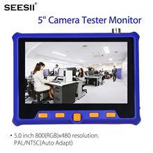 SEESII 5900 5 1080P Camera Tester Monitor TVI CVI AHD CVBS Analog Test HDMI VGA Input Tool LCD Screen BNC Cable Testing