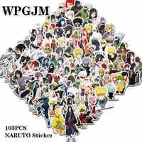 100 unids/lote pegatina Japón Anime pegatinas de Naruto dibujos animados para Snowboard Laptop equipaje nevera coche-estilismo pegatinas de vinilo