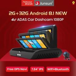 Junsun E95P 4G ADAS Car Dashcam Android 8.1 WiFi DVR Camera FHD 1080P Dual Lens Auto Dash Cam Navigator GPS Parking Monitor