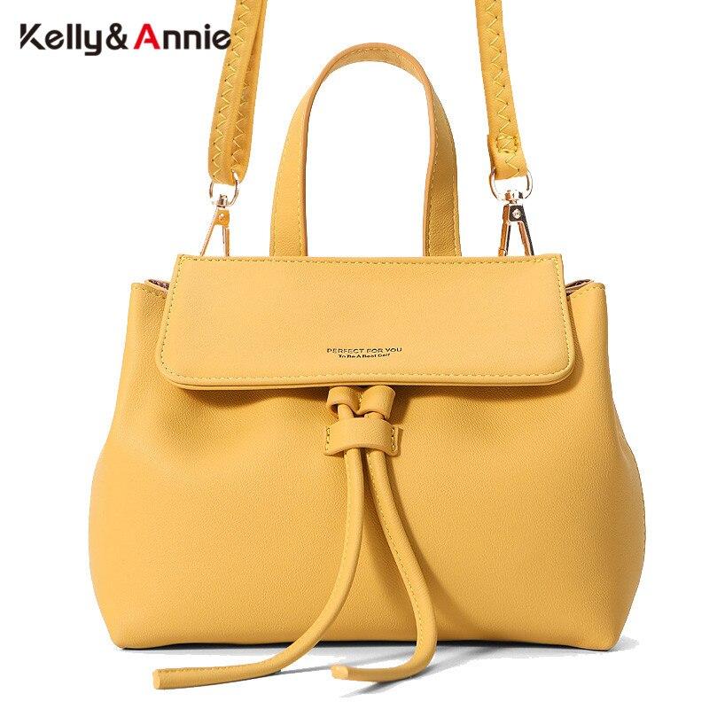 Женская сумка на шнурке, модная брендовая дизайнерская сумка из мягкой кожи, сумка мессенджер через плечо|Сумки с ручками|   | АлиЭкспресс