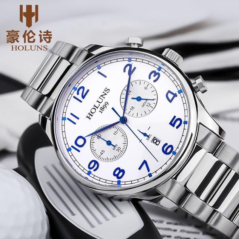 2020 New Quartz Wristwatch 100m Moisture Proof Dial Working Steel Band Strap Men's Gift Men's Watch Horloges Mann