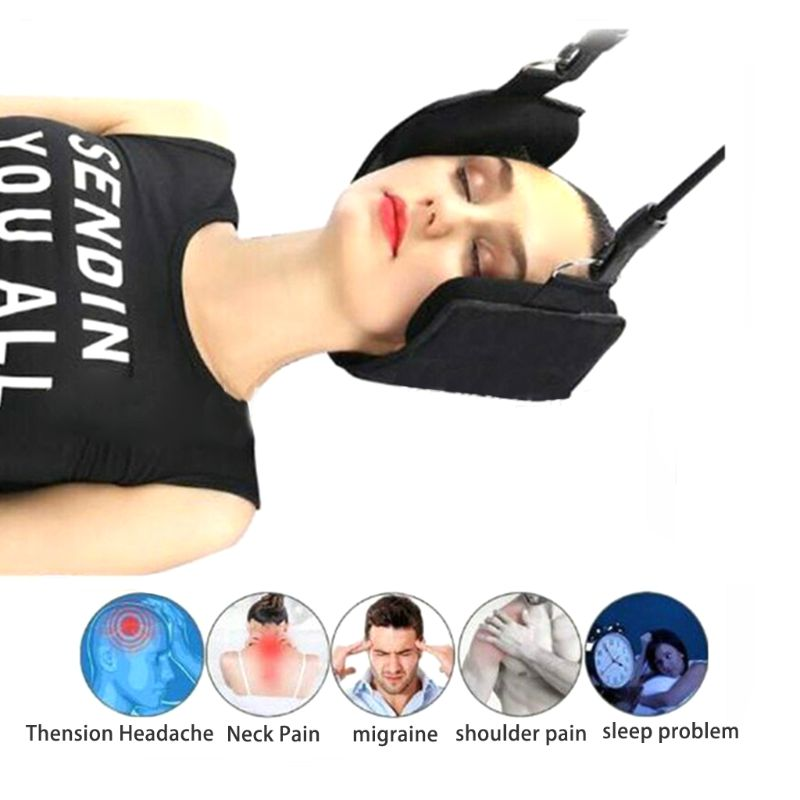 Fashion Portable Neck Pain Relief Relaxing Hammock Neck Massager Foam Napping Sleeping Pillow Cushion For Home Office X3UA
