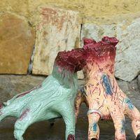 Голосовая активация электрическая ползающая рука игрушка жуткий реалистичный поддельные сломанные руки для хеллоуина украшения день апре...