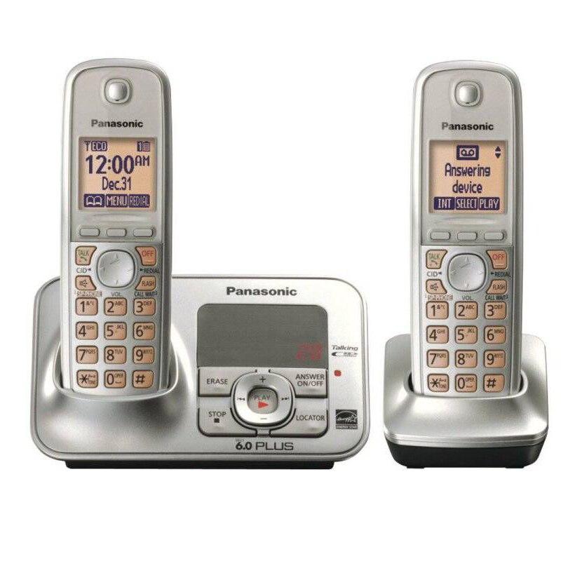 DECT Teléfonos digitales inalámbricos con intercomunicador correo de voz retroiluminado LCD teléfono inalámbrico para oficina hogar negocios plata gris