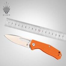 Складной нож Kizer, нож для выживания, стальной нож N690 высокого качества, Походный нож для охоты