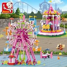 Playground Ferris Wheel Building Blocks Sets Merry-go-round City DIY Figures Bricks LegoINGLs Friends Toys Girls Christmas Gifts
