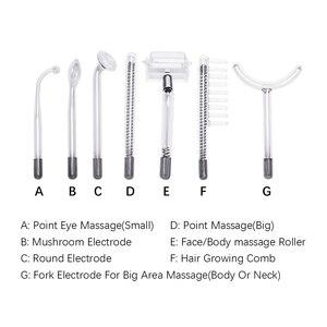 Image 5 - Beleza estrela 7 em 1 removedor facial, máquina de eletrodo, varinha de vidro, removedor de acne, alta frequência, cuidados com a pele, spa facial