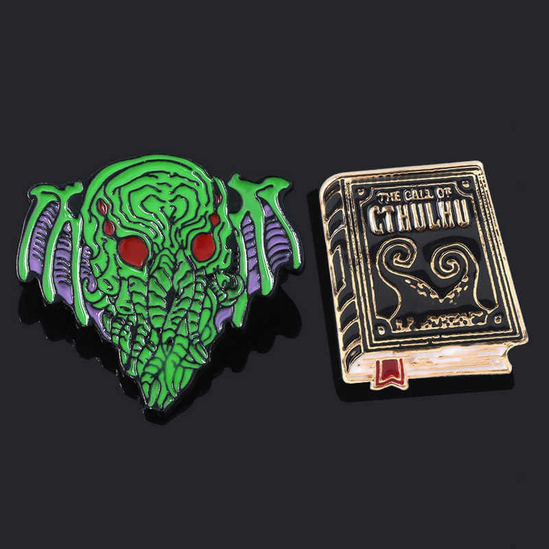 SG Howard Phillips Lovecraft Cthulhu Mythos Bros Necronomicon Call Of Cthulhu Lencana Kerah Pin Tas Kain Penggemar Hadiah