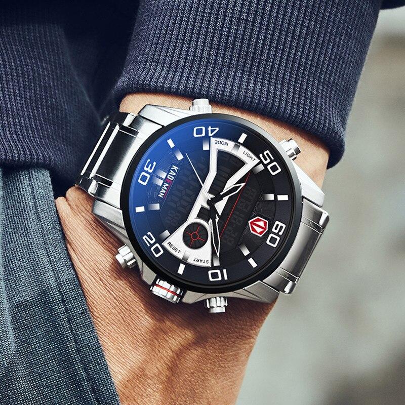 KADEMAN Fashion Sports Dual Display Digital Watch Men Quartz Watches Top Brand Waterproof Military Wristwatch Relogio Masculino