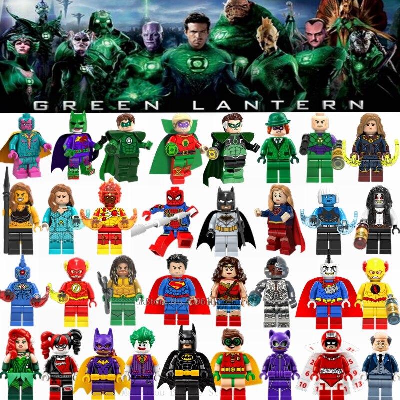 Marvel DC superheroes Flash Aquaman Parademon Green black panther blocks figure
