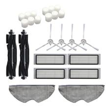 ¡Caliente!-24 Uds lavable cepillo principal cepillos laterales filtro Hepa Filtro de paño de mopa para 360 S5 S7 Robot piezas de aspiradora robótica