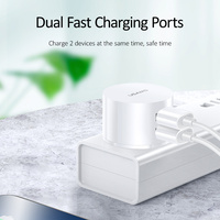 USAMS Mobile Phone Charger for iPhone Samsung 2.1A 2 port EU/UK/US Plug Wall Charger for iOS/Android mobile Phone Chargers