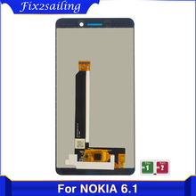 For Nokia 6.1 LCD for Nokia 6.1 Plus 6X Display Touch Screen Glass Panel Digitizer Assembly For Nokia 6 2018 6.1 TA 1043 TA 1045