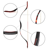 New toparchery 30 50lbs Traditional Archery Longbow Hunting Outdoor Shooting Bow Powerful Adults Recurve Bow