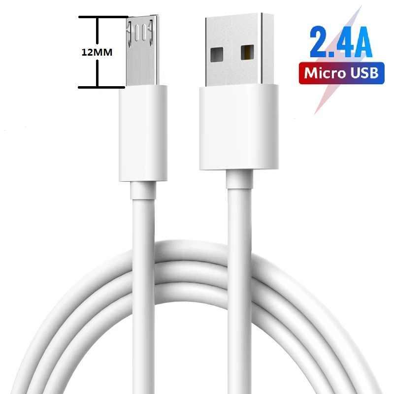Cable Micro Usb de 12mm, Cable de carga largo para Oukitel K10000 Pro C12 C13 umidigi-a5 A3 Blackview A60 A7 Bv5500 Zoji Z8