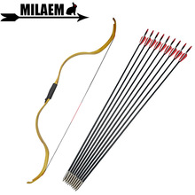 цена на 20-30lbs Archery Traditional Recurve Bow And Arrow Set Fiberglass Arrow Removable Bow Riser Longbow Hunting Shooting Accessories