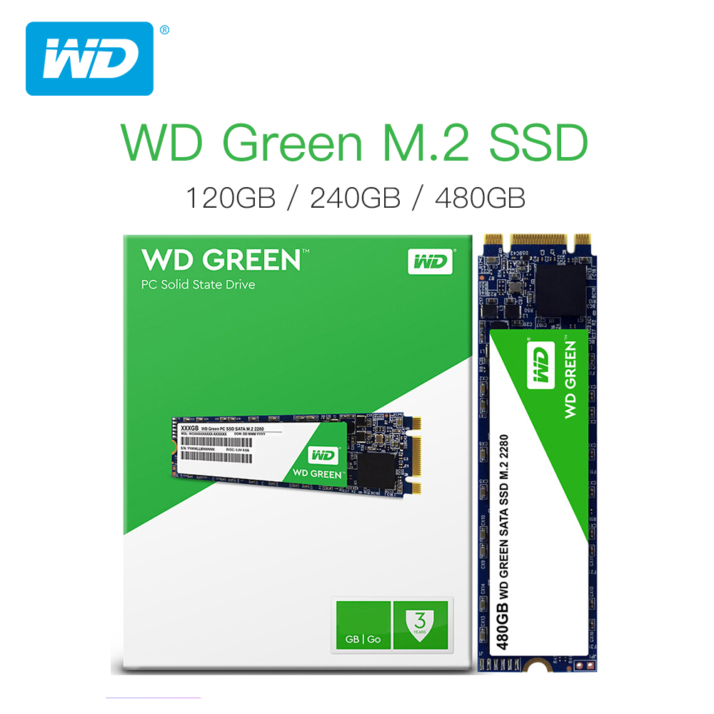Western Digital WD Green SSD 120GB 240GB  Internal Solid State Hard Drive Disk TLC M.2 2280 540MB/S  For Laptop