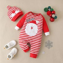2 pcs set baby christmas clothes cartoon santa claus striped