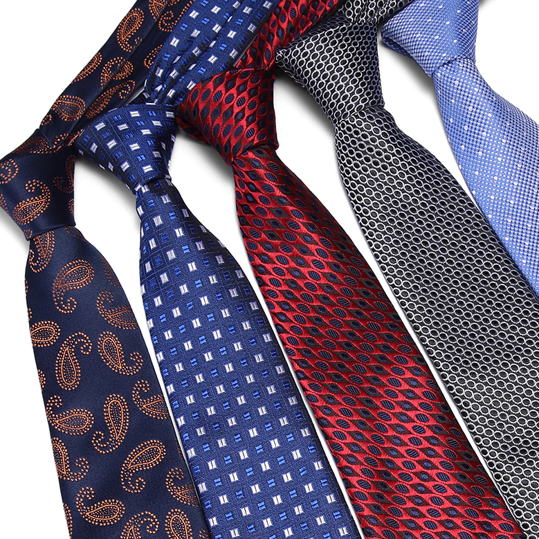 New Classical 7.5cm 100% Silk Tie Red Blue Floral Neckties For Men Classic Luxury Stripe Necktie Formal Dress Wedding Mens Ties