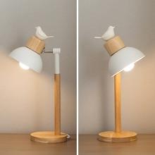 Modern nordic minimalist table lamp creative deco lron LED desk light for living room bedroom bedside lamp study room lights e27