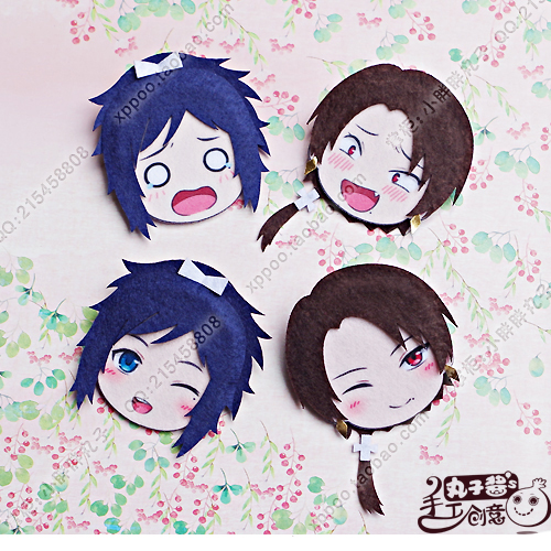 Cute Anime Touken Ranbu Online Kashuu Kiyomitsu Yamatonokami Cosplay Badge Nonwoven Fabric Button Brooch Pin Bedge Gifts