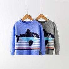 Новые осенние детские свитера, детский Рождественский костюм в полоску, вязаный свитер для мальчиков, Зимние Повседневные пуловеры для девочек, одежда