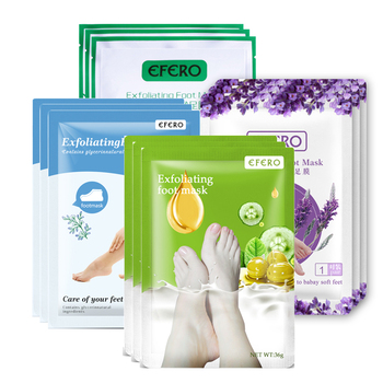 EFERO 24pcs=12pair Baby Feet Foot Peel Mask Remove Dead Skin Care Smooth Exfoliating Foot Mask for Legs Spa Socks for Pedicure 1