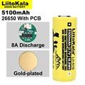 Литиевая аккумуляторная батарея Liitokala, 26650 А, 26650A, 3,7 в, мА, подходит для фонарика, печатной платы, 1-10 шт.