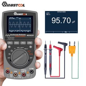 Image 2 - MUSTOOL Upgraded MDS8207 Intelligent 2 in 1Digital 40MHz 200Msps/S Oscilloscope 6000Counts True RMS Multimeter With Analog Grap