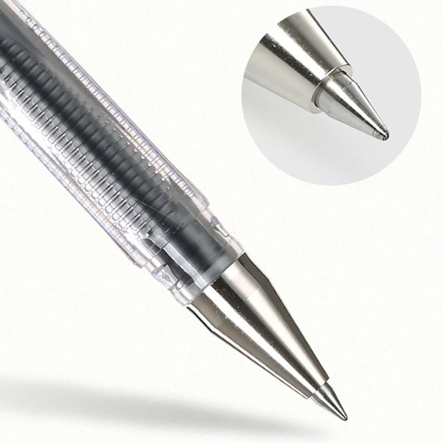 Pilote G-1 stylo gel étudiant avec stylo de test de grande capacité signature de bureau noir rouge bleu 0.5mm BL-G1-5