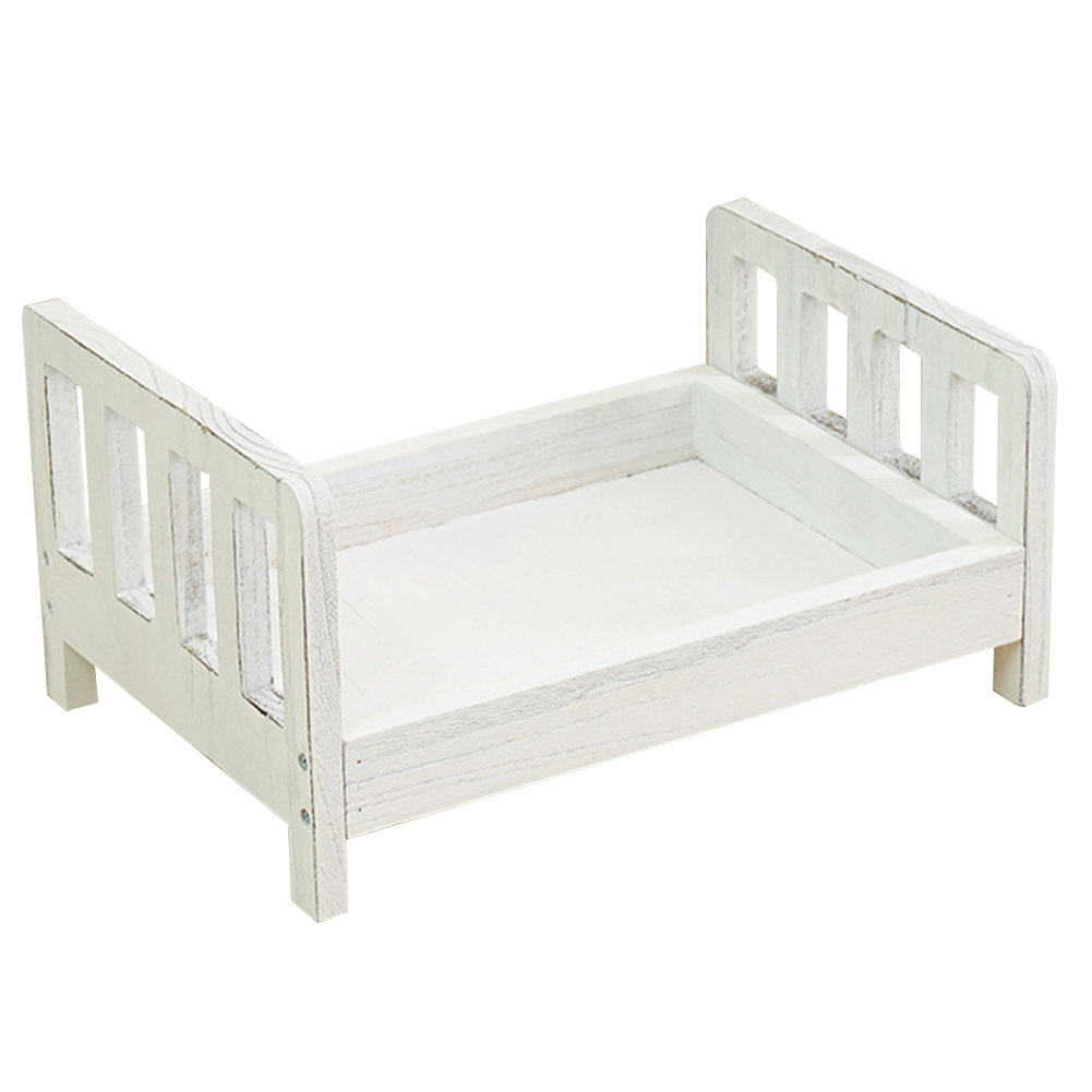 Sofa Detachable Wood Bed Infant Studio Props Gift Posing Basket Background Crib Photo Shoot Accessories Newborn Baby Photography