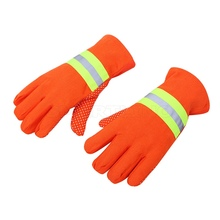 Working-Gloves Fire-Resistant Hand-Protective-Cleaner Reflective 3m Heat Traffic Orange