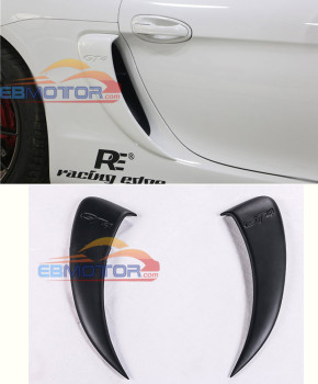 GT4 style FRP Side Vents Car Modification Side air-in-take for Porsche 981 Cayman  T077F 1