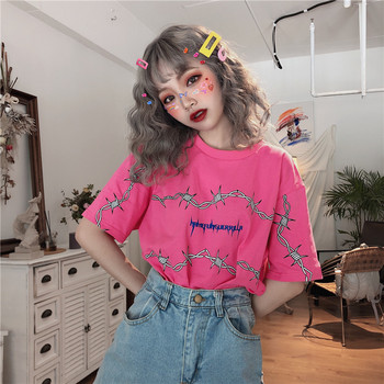 zsiibo letter print t shirt korean harajuku vintage aesthetic clothes kpop hip hop streetwear graphic summer tops women 2020 love t shirt plus size 90s graphic tees women japanese korean clothes casual print o neck vintage gothic streetwear 2019 print