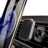 Soporte magnético Universal para teléfono móvil, accesorios de montaje para la rejilla de ventilación del coche, para iPhone X y Xiaomi
