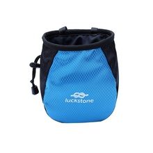 Rock Climbing and Bouldering Chalk Bag With Climbing Chalk Brush With Ergonomic Handle