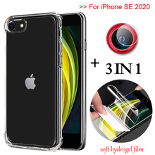 3-in-1 full hydrogel film for iphone se 2020 se 2 Airbag Case se2 2020se iphonese 2 Soft Glass Case ip i phone se2020 Back Cover