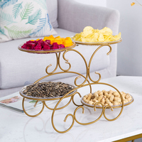 Iron fruit plates creative home living room coffee table fruit plate multi layer snack dessert display rack fruit bowl mx9181530|Dishes & Plates| |  -