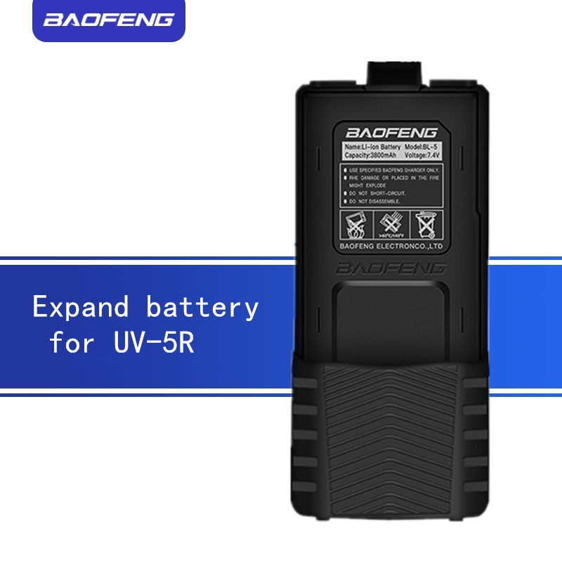 Expand Battery For UV5R Walkie Talkie  High Capacity Battery For  Baofenguv5r Series 3800mAh