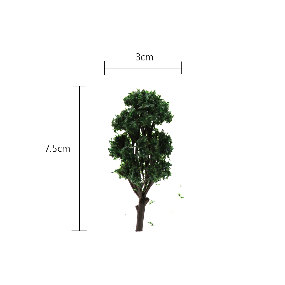 Dark Green Simulation 8cm Tree Model Toy 50pcs For Railway Building Landscape Scenery Diorama Miniature Sand Table DIY Productio