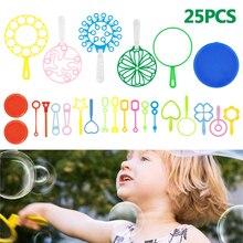 25-31Pcs Bubble Maker Set Fun Bubble Outdoors Activity Party Favors Kids Toy Blowing Soap Bubble Wand Toys Blower Fan Machine