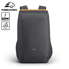 Kingsons 2020 new waterproof backpacks USB charging school bag anti-theft men and women backpack for laptop travelling mochila