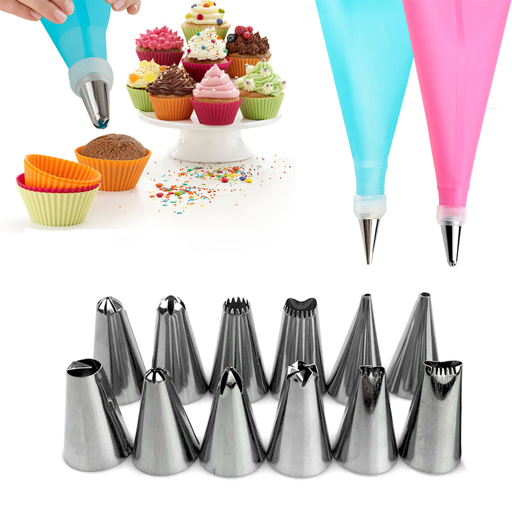 24 Nozzle Cake Decorating Set + 1 Pastry Bag 1