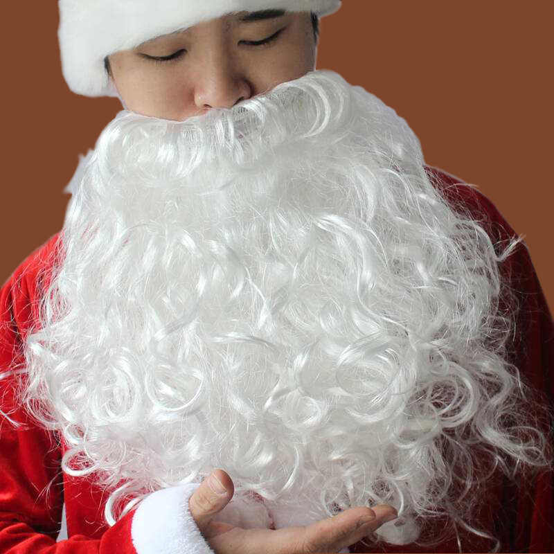 Kerst Cosplay Karakter Props Kerstman Baard Nep Snor Party Grappig Gezichtshaar Decoratie Volwassen Mannen En Vrouwen Pruik