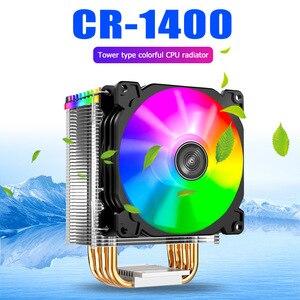 Светодиодный кулер для ПК Jonsbo CR1400 PWM 4Pin 12 В, RGB, 4 тепловых трубки, кулер для процессора, компьютерный радиатор для Intel 1151/1155/AM3/AM4