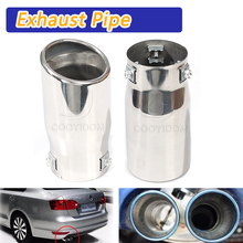 цена на COOYIDOM Car Auto Vehicle Chrome Exhaust Pipe Tip Muffler Steel Stainless Trim Tail Tube Car Rear Tail Throat Liner Accessories