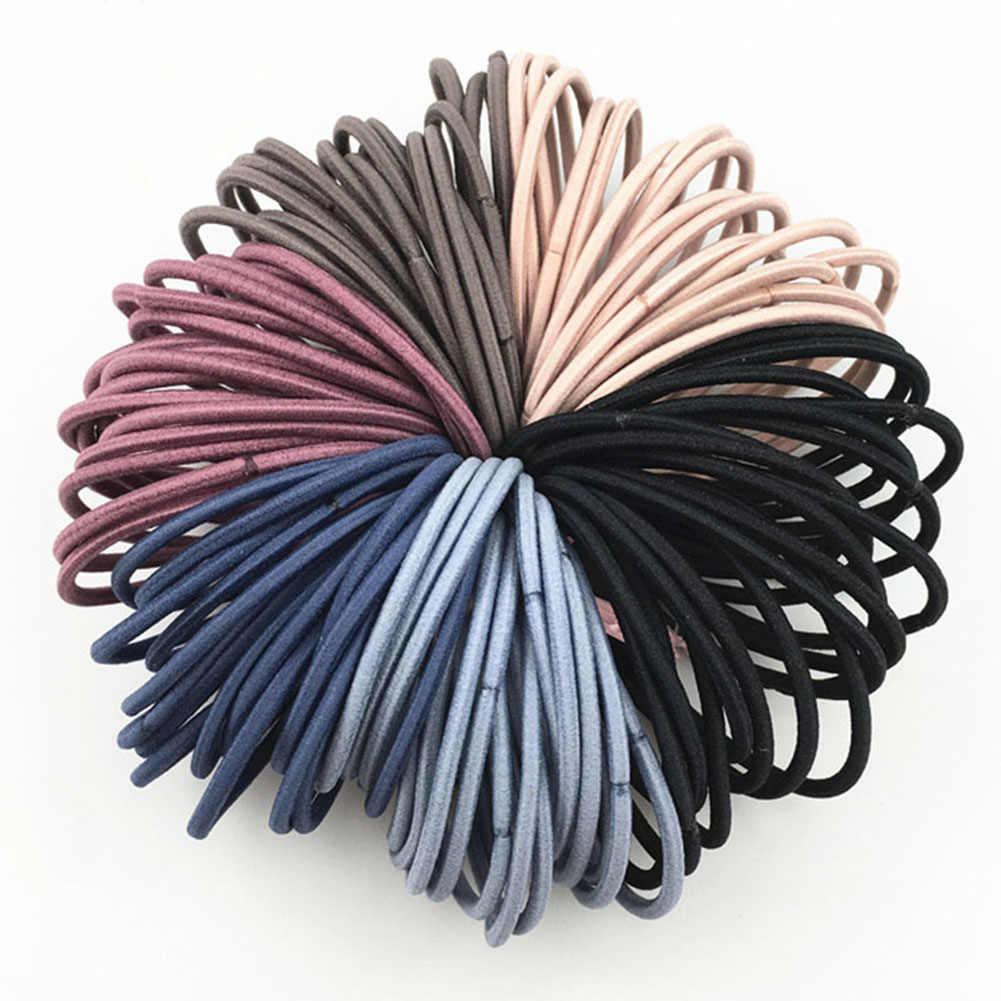 1 sztuk akcesoria do włosów kobiety opaski gumowe elastyczne gumki do włosów dziewczyny z pałąkiem na głowę ozdoby krawaty Gum do hairbands