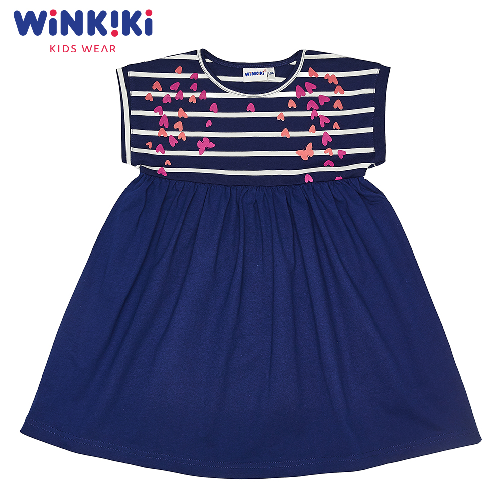 Dresses WINKIKI WKG91367 children's dress clothes for girls sundress Cotton Pink Casual brand graduation gowns children pink a line girls dresses for party and wedding dresses for girls 4 12 years princess dress