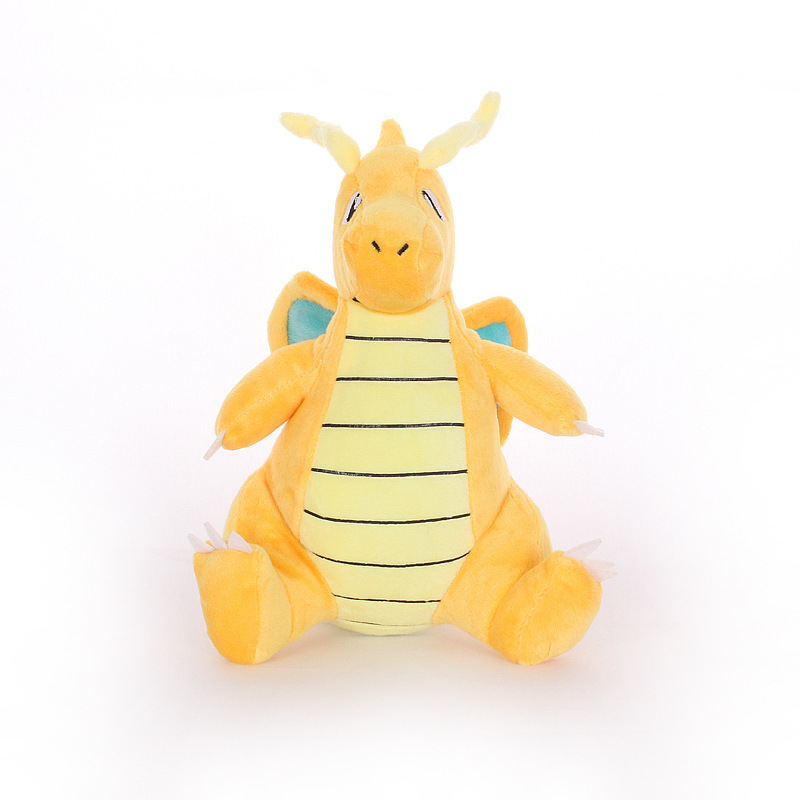 5pcs/lot 21cm Dragonite Plush Toys Doll Cartoon Animals Dragonite  Soft Stuffed Peluches Toys Gifts For Kids Childrens
